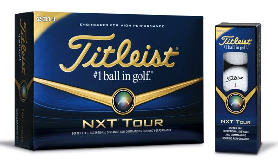 Image of a box of NXT Tour golf balls. The best golf ball for amateur golfers.