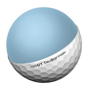 Image of the core of the Titleist DT TruSoft. This soft compression core makes this one of the best golf balls for amateurs.
