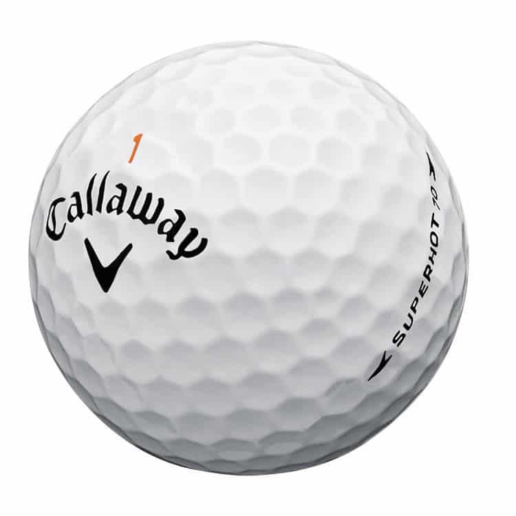 Image of a callaway superhot 70 golf ball.
