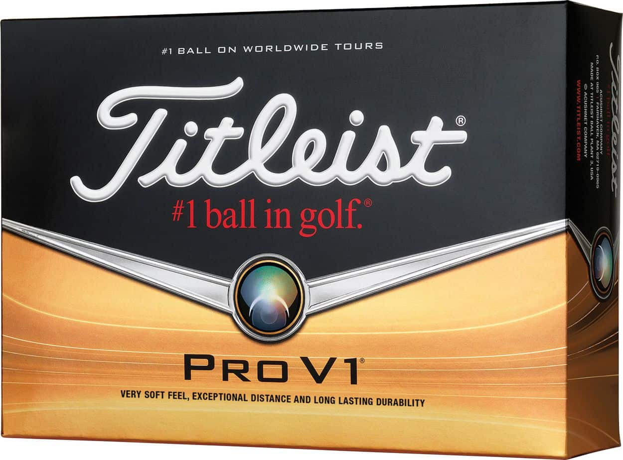 Image of Titleist Pro V1 golf ball. Best golf ball overall.