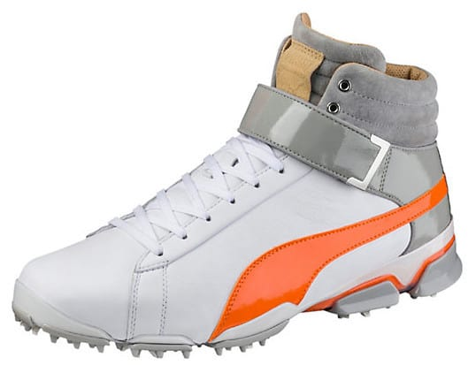 Image of the Puma TitanTour Hi-TOP SE golf shoe. Shoes worn by Rickie Fowelr