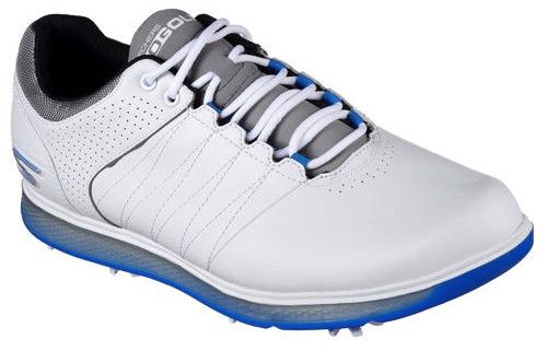 Image of Sketchers Go Golf Pro 2 in white and blue.