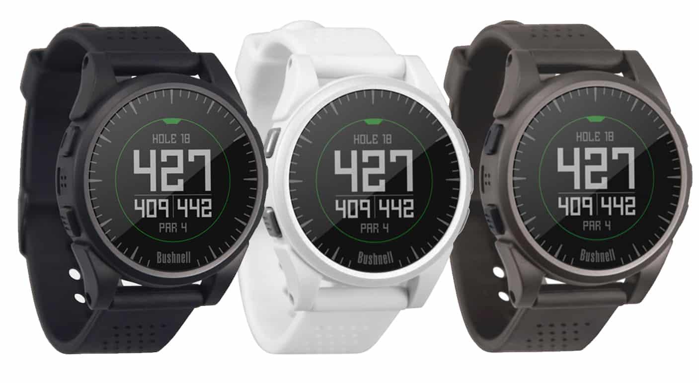 Image of three bushnell excel black golf gps watch. Bushnell's newest golf watch.