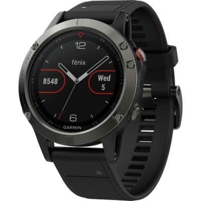 Image of a Garmin Fenix 5 golf gps watch. Best multisport golf gps watch.